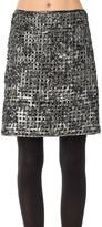 Max Studio Metallic Tape Embroidered Skirt