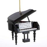 """Kurt Adler 3"""" Wood Piano Ornament"""