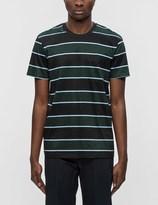 Ami Club Stripes Chest Pocket S/S T-Shirt