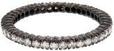 Ring Black Sethi Couture White Diamond Prong Set Eternity Band Ring - Black Rhodium