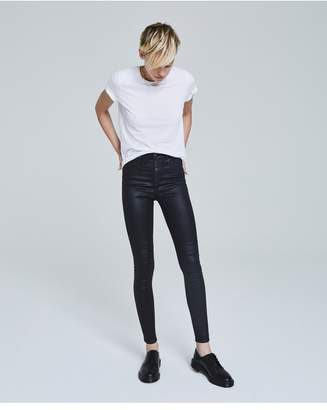 AG Jeans The Mila - Leatherette Lt-Super Black