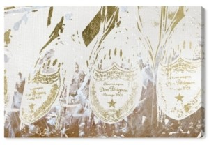 "Oliver Gal Champagne Showers Canvas Art - 10"" x 15"" x 1.5"""