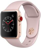 Apple Watch Series 3 (GPS + Cellular), 38mm Gold Aluminium Case With Pink Sand Sport Band
