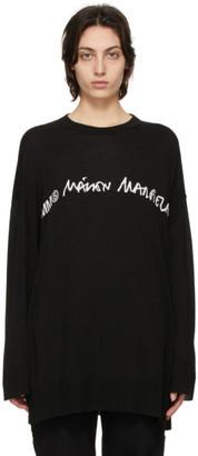 MM6 MAISON MARGIELA SSENSE Exclusive Black Logo Sweater