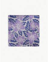 DUCHAMP LONDON Floral jacquard silk pocket square