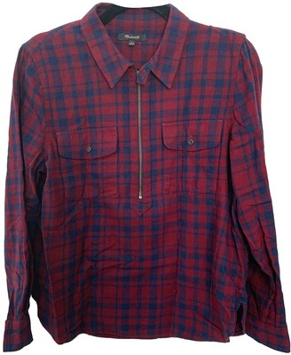 Madewell Burgundy Cotton Top for Women