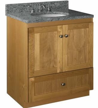 "Millwood Pines Lysette 30"" Vanity Base Only Base Finish: Natural alder"