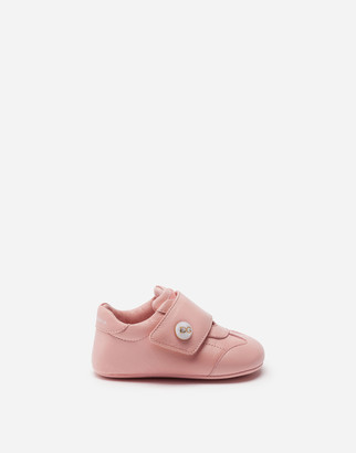 Dolce & Gabbana Nappa Leather Sneakers With Logo Pearl
