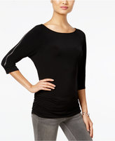 INC International Concepts Petite Zip-Trim Top, Only at Macy's