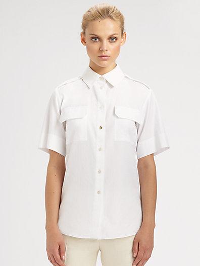 Stella McCartney Short-Sleeve Button Front Blouse