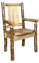 Rivas Rustic Captain's Solid Wood Dining Chair Loon Peak