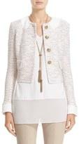 St. John Women's Faux Collar Caillou Tweed Jacket