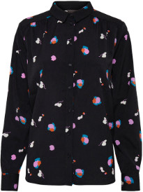 Ichi Dagny Shirt - XS - Black/Blue/White