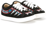 Andrea Montelpare - embellished sneakers - kids - Goat Skin/Suede/PVC/rubber - 21