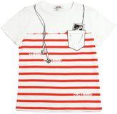 Junior Gaultier Striped Cotton Jersey T-Shirt