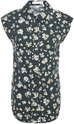 See by Chloe Floral-print Cotton-poplin Shirt