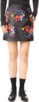 Tanya Taylor Print Leather Aneta Skirt