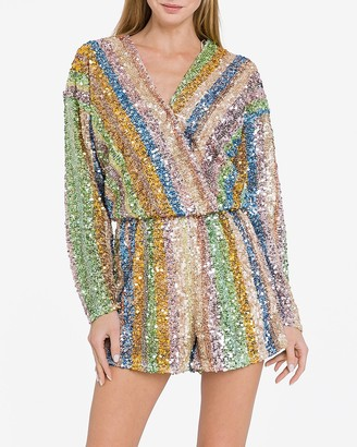 Express Endless Rose Sequin Romper
