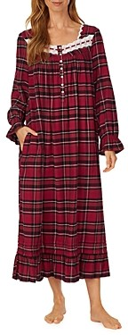 Eileen West Plaid Flannel Ballet Nightgown