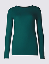M&S Collection Modal Rich Round Neck Long Sleeve T-Shirt