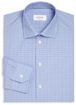 Eton Textured Plaid Button-Up