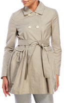 Hache Double-Breasted Pleated Trench Coat