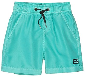 Billabong Kids All Day Overdye Layback Swim Shorts (Toddler/Little Kids) (Aqua) Boy's Swimwear