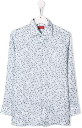 Isaia Kids TEEN floral print shirt