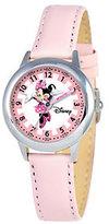 Disney Kids Minnie Mouse Pink Leather Band TimeTeacher Watch