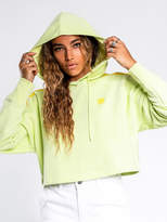 adidas Cropped Hoodie in Ice Yellow
