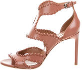 Alaia Leather Whipstitch Sandals