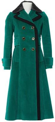 Miu Miu Green Cotton Coat for Women