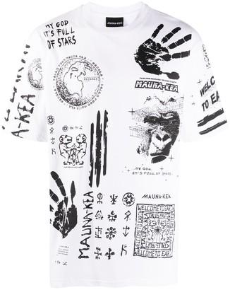 Mauna Kea symbol print short sleeve T-shirt