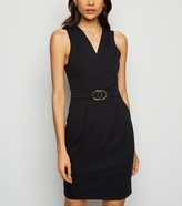 New Look Mela Belted Double Circle Buckle Dress
