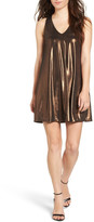 Everly Metallic Racerback Shift Dress