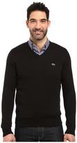 Lacoste Segment 1 Cotton Jersey V-Neck Sweater