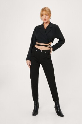 Nasty Gal Womens Get Your Story Straight Petite Jeans - Black - 6, Black