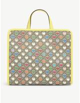 Gucci Kids heart and logo-print square canvas tote