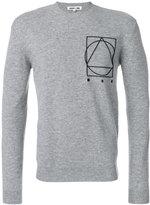 McQ by Alexander McQueen motif long sleeved sweater - men - Cashmere/Wool - S
