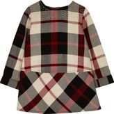 River Island Mini girls red check stud dress