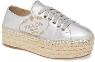 Prada Espadrille Platform Sneaker