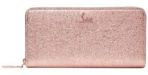 Christian Louboutin Panettone Metallic Cracked-leather Continental Wallet