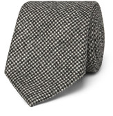 Altea 8cm Nilo Puppytooth Wool And Cashmere-blend Tie - Gray