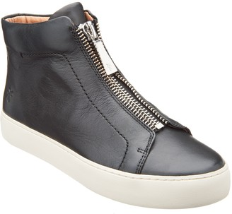 Frye Leather High Top Sneakers - Lena Zip High