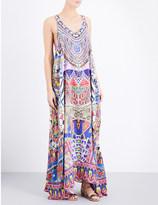 Camilla Dream Weavers silk-georgette maxi dress