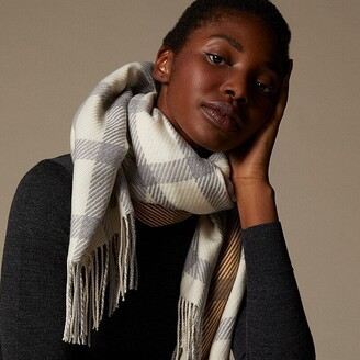 Love & Lore Love And Lore Supersoft Scarf Tara Plaid Ivory/Golden Brown