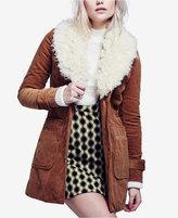 Free People Lady Lane Faux-Fur-Collar Corduroy Jacket