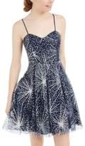 Blondie Nites Juniors' Glitter Fireworks Fit & Flare Dress