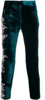 Haider Ackermann printed velvet trousers