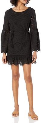 Cupcakes And Cashmere Women's Ruben Eyelet Bell Sleeve Tie Dress